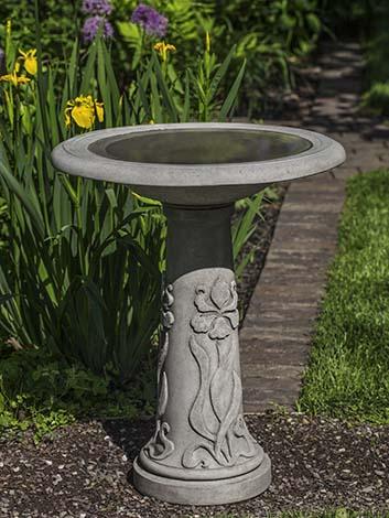 Iris Birdbath $230