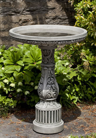 Smithsonian Cottage Garden Birdbath $245