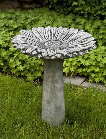 Sunflower Birdbath $245