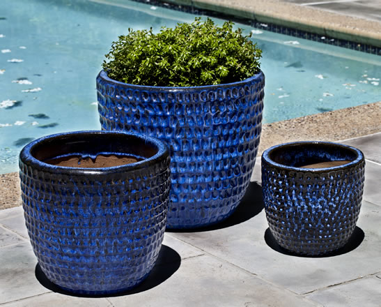 Dimple Glaze Planter $295/Set of 3