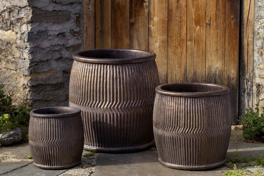 Rain Barrel Planter $445/Set of 3