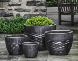 Hyphen Planter, Ice Black $440/Set of 4