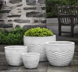 Hyphen Planter, Snow $440/Set of 4