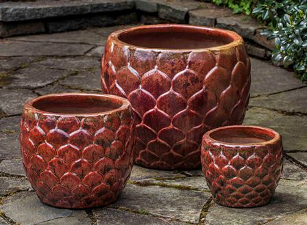 Pina Planter, Sunset Red