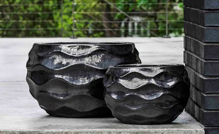 Low Rumba Planter, Ice Black