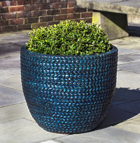 Sisal Weave Planter, Indigo Rain $385/Set of 3