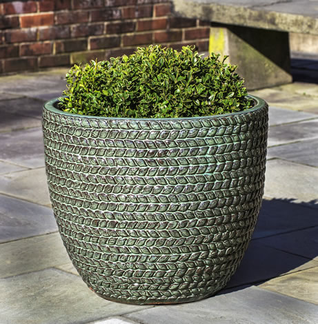 Sisal Weave Planter, Seafoam $385/Set of 3