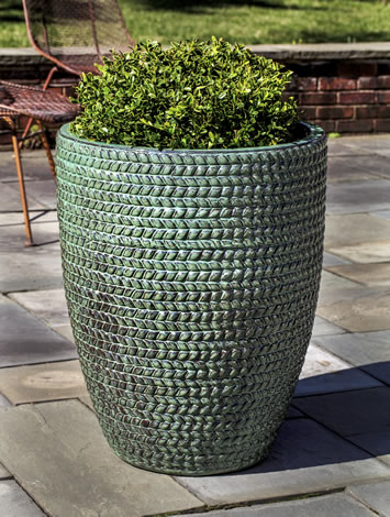 Tall Sisal Weave Planter, Seafoam $575/Set of 3