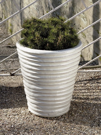 Round Ruffle Planter $385/Set of 3