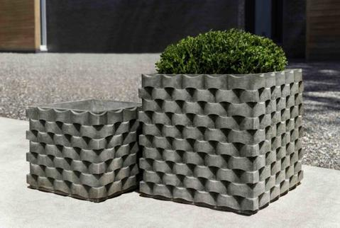 M Weave Square Planter, Small