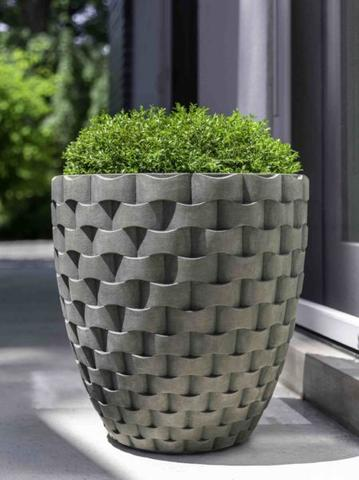 M Weave Tall Round Planter