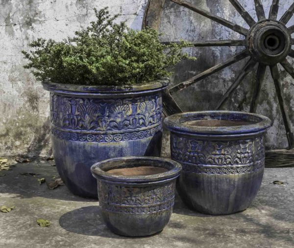 Belize Planter - Rustic Ironstone Blue