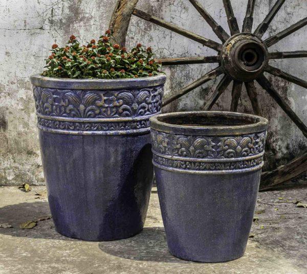Copelia Planter - Rustic Ironstone Blue