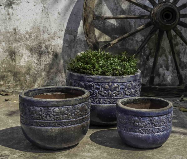 Quebrada Planter - Rustic Ironstone Blue
