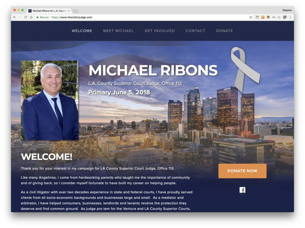 Michael Ribons for Judge