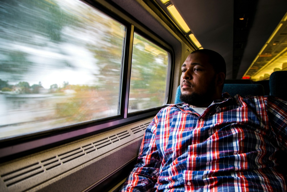 Amtrak Relaxation. photo: Kevin Turner