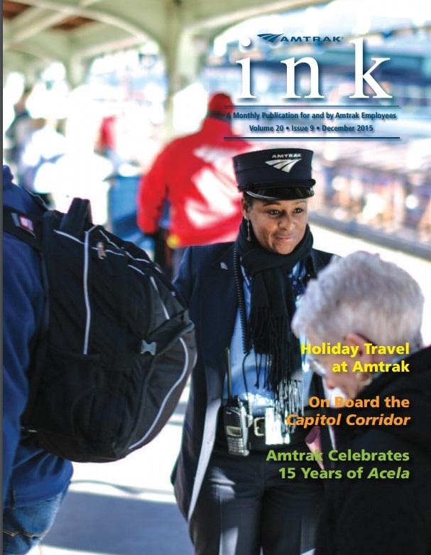 December cover of Amtrak Ink