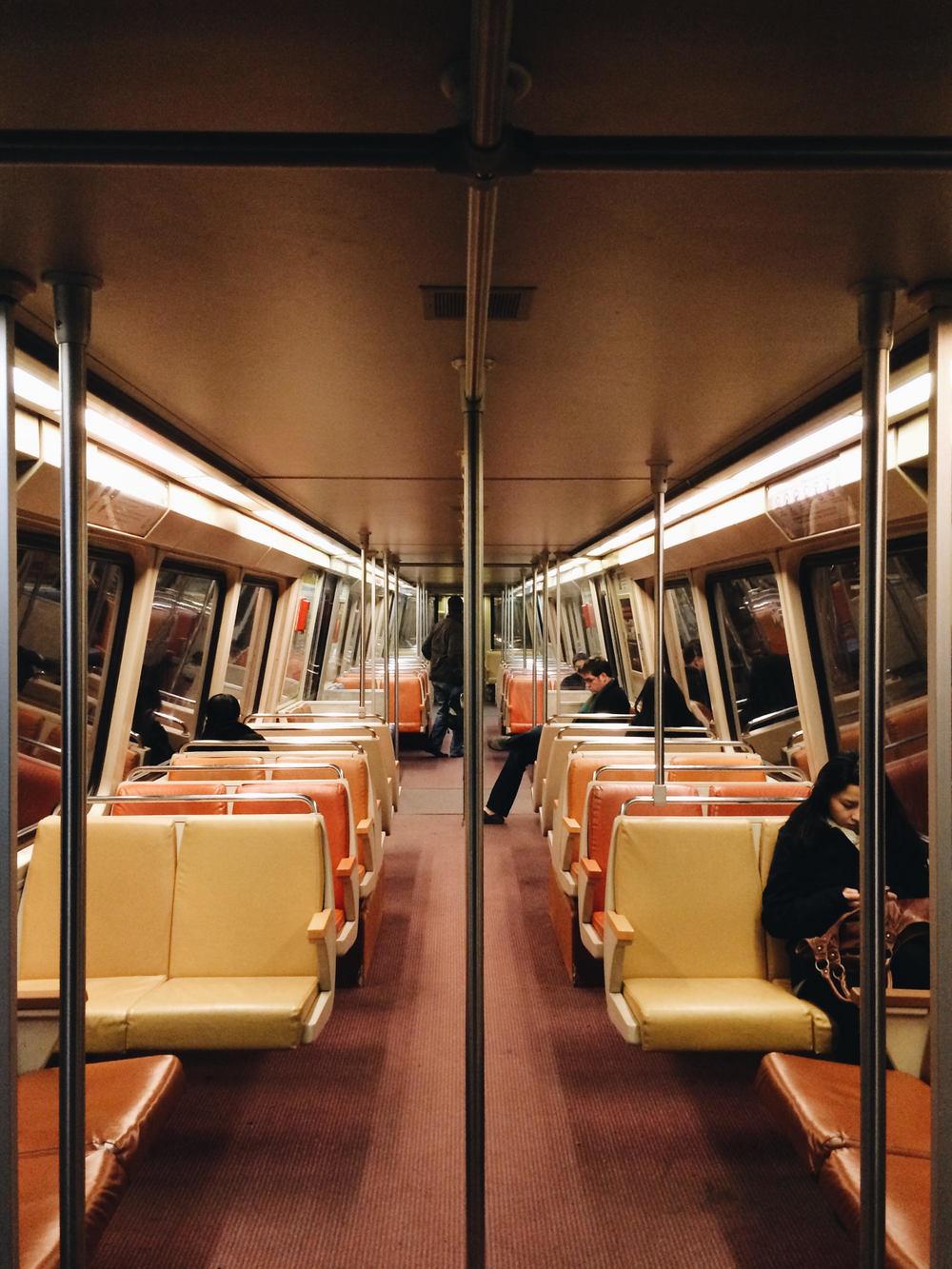 Interior of a Rohr 1000 series railcar.