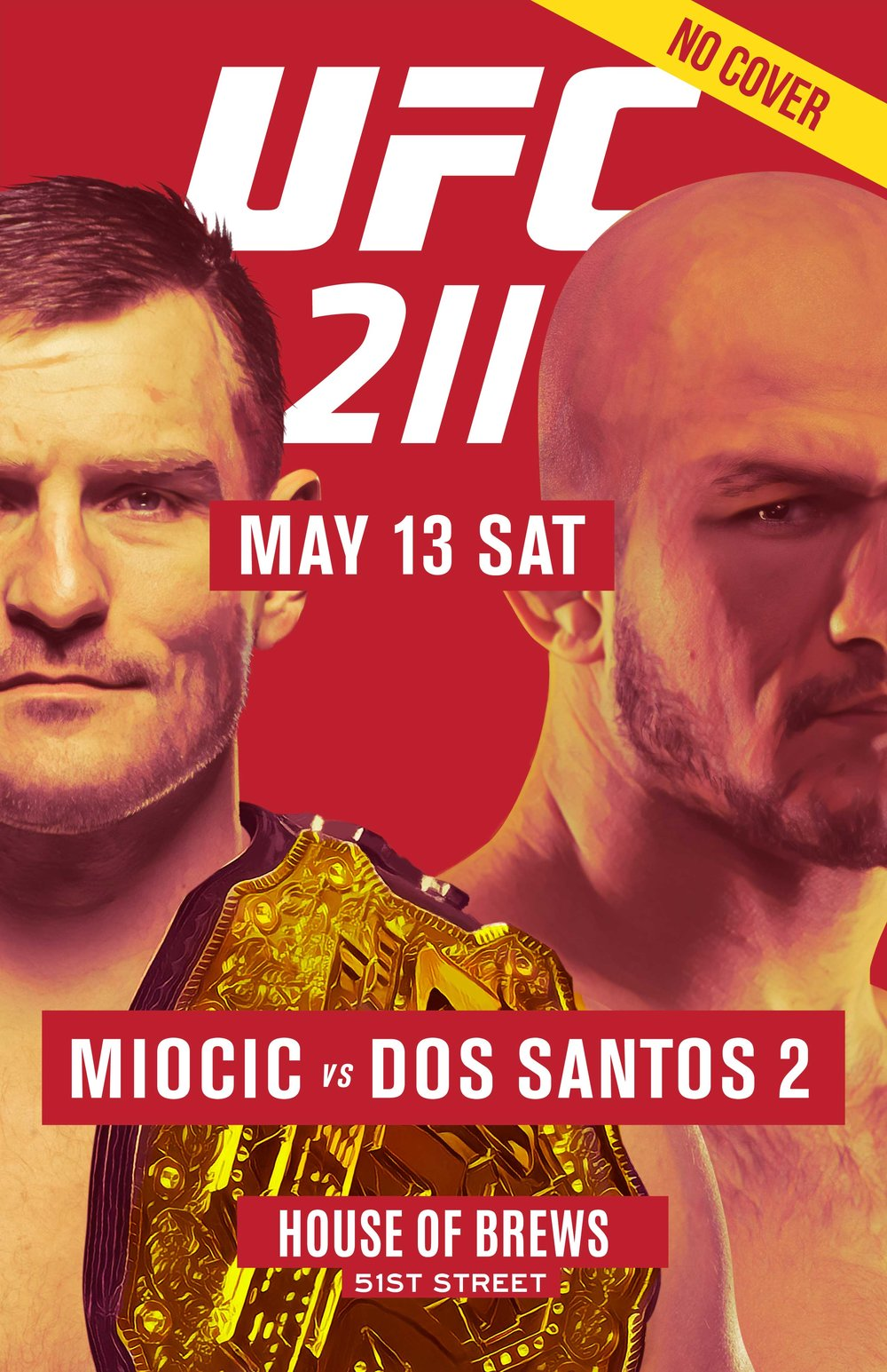 Watch UFC 211 NYC No cover