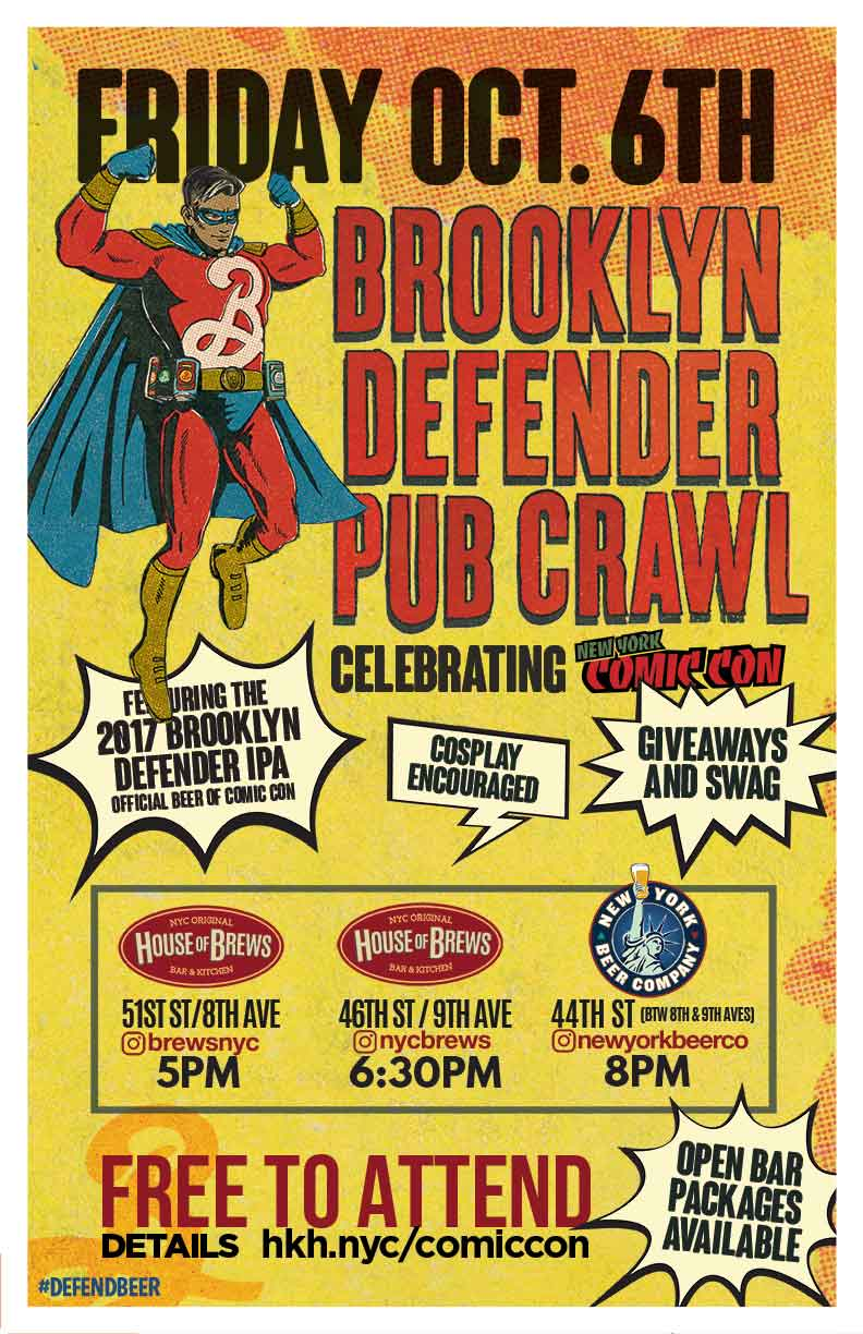 New York Comic Con Brooklyn Defender Pub Crawl