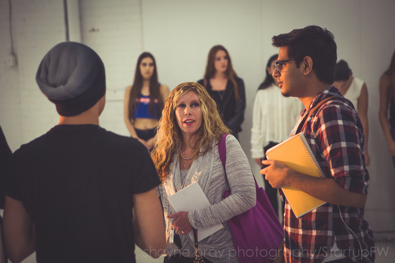 Jodi Goodfellow, founder of Startup Fashion Week with Basil Waris, Art Director from Toronto Fashion Academy