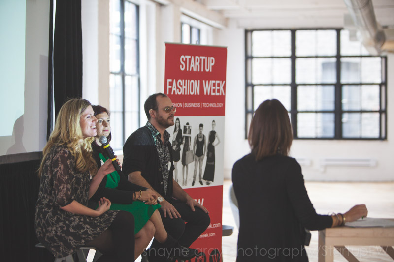 Joanna Griffiths of Knix Wear, Daniela Syrovy of ClutchPR, & Kyle Kofsky of PRODUCT, Veronica Becker-moderator