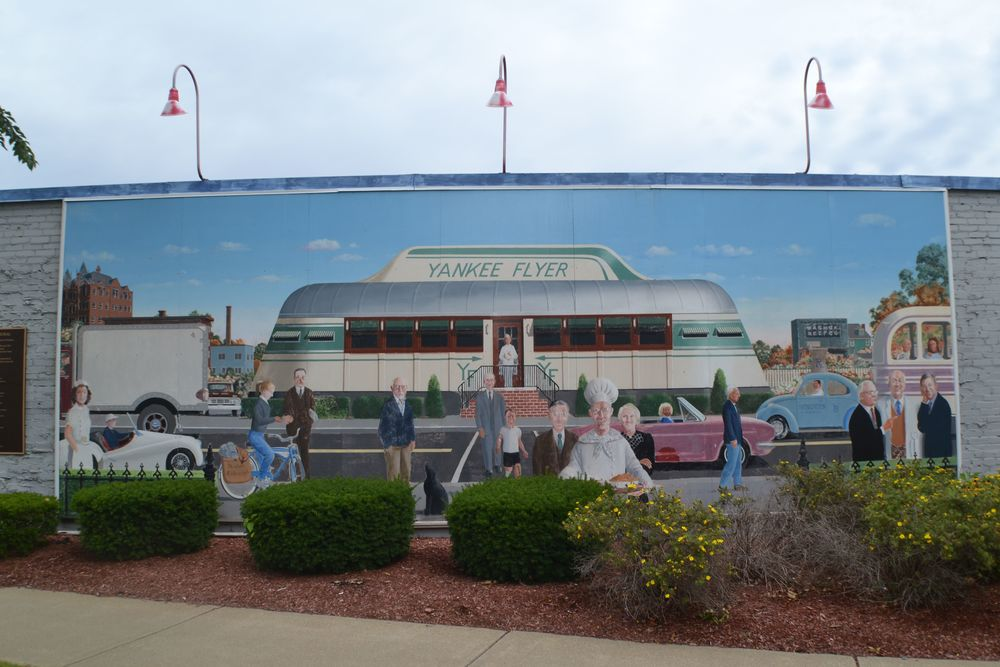 Yankee Flyer Mural