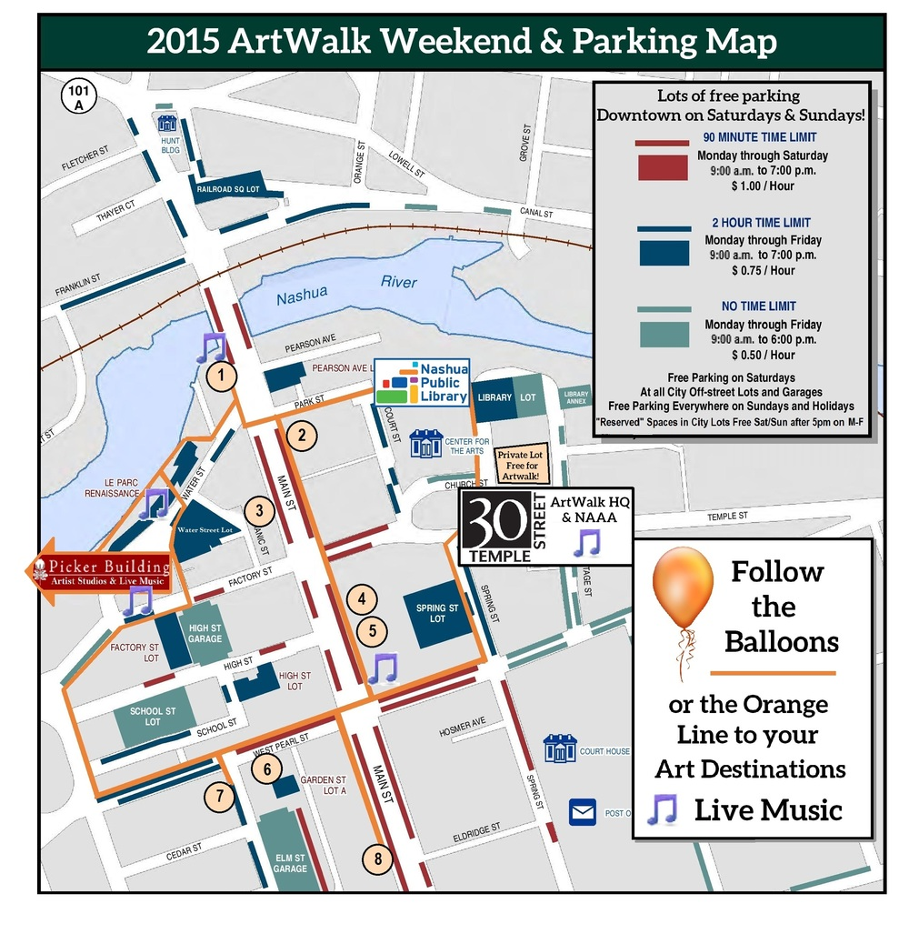 ArtWalk Maps 2015 City Arts Nashua