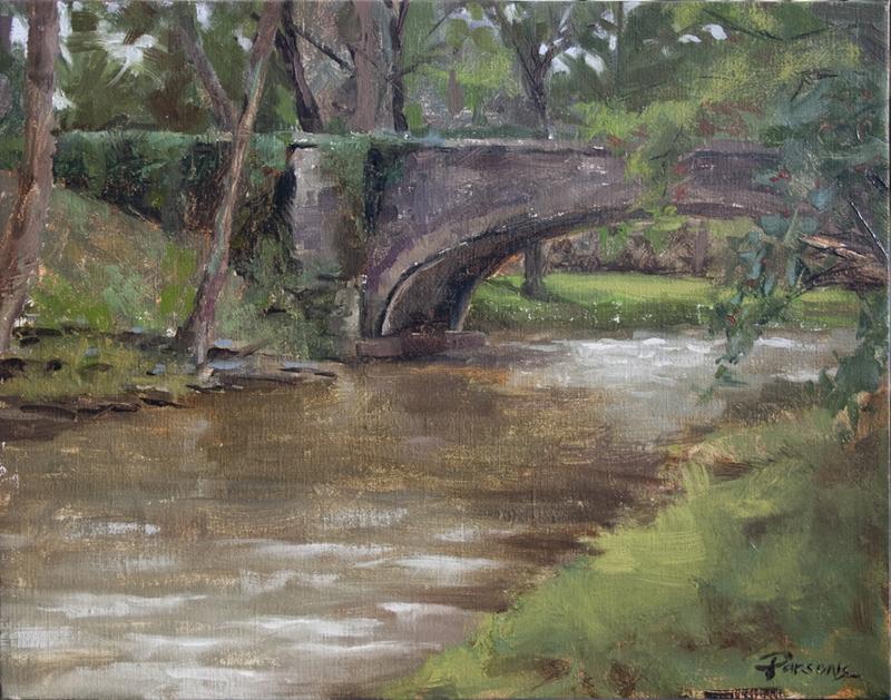 Belle Meade Bridge - 11x14 - oil on Belgian linen