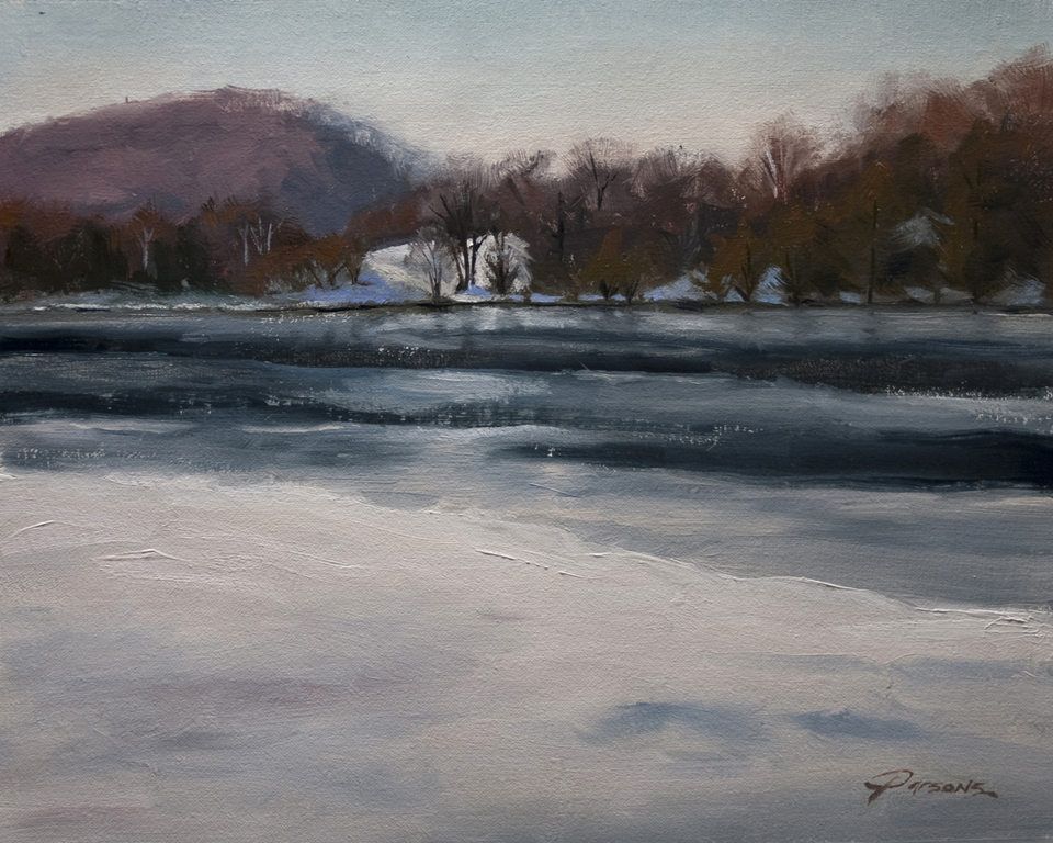 Winter Plein Air - 8x10 - oil on Belgian linen