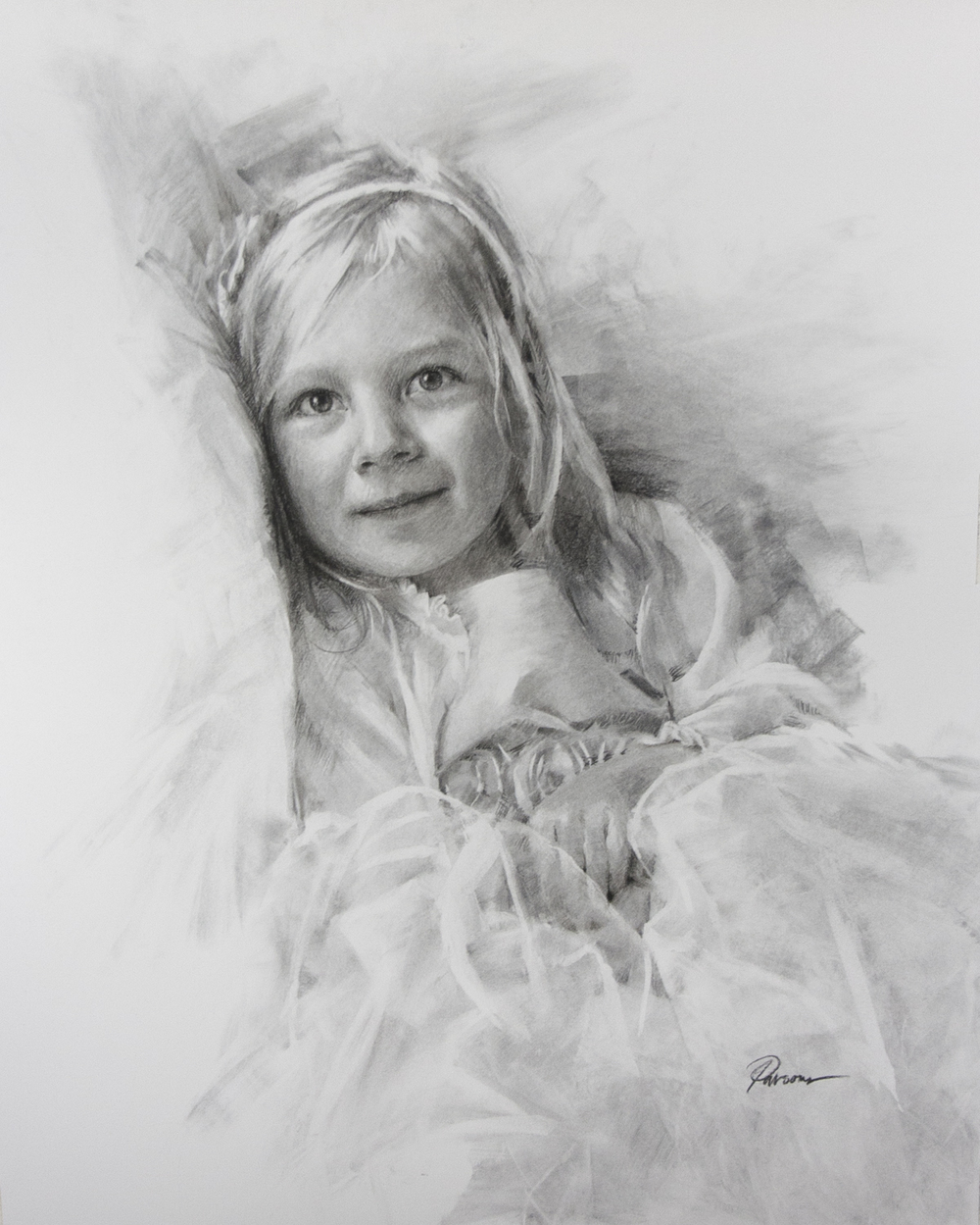 Addison Charcoal Portrait