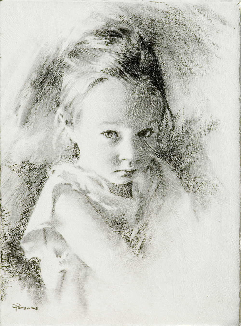 Julie Charcoal Portrait