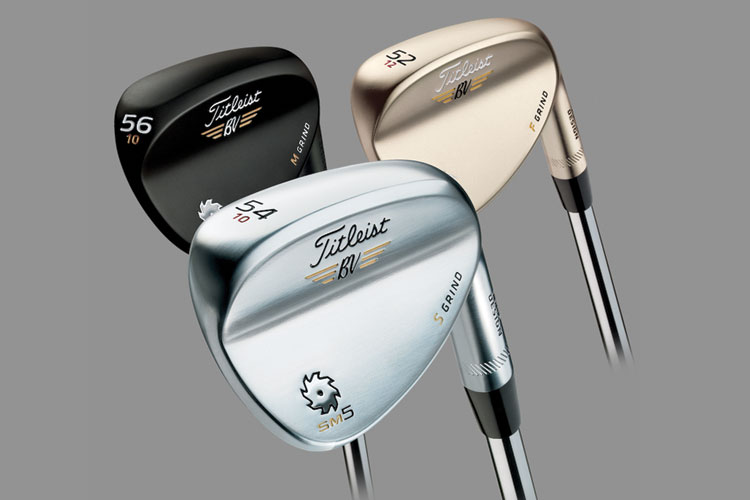 3 Finishes from Vokey. Chrome, Gold, Raw Black