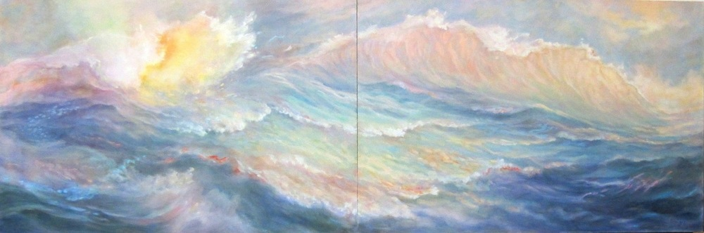 Sea Dreams I  (diptych), 24 x 72, oil on board, $2800.