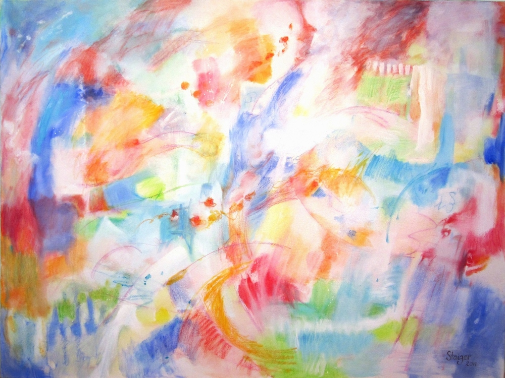 Kite Wind, 36 x 48, oil and oil pastel on canvas, $2400.
