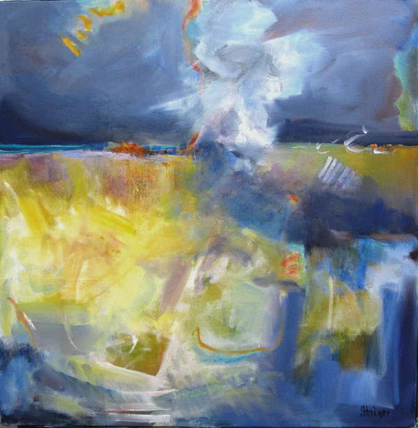 "Coastal IV ""Storm Front"", 24 x 24"", oil on canvas SOLD"