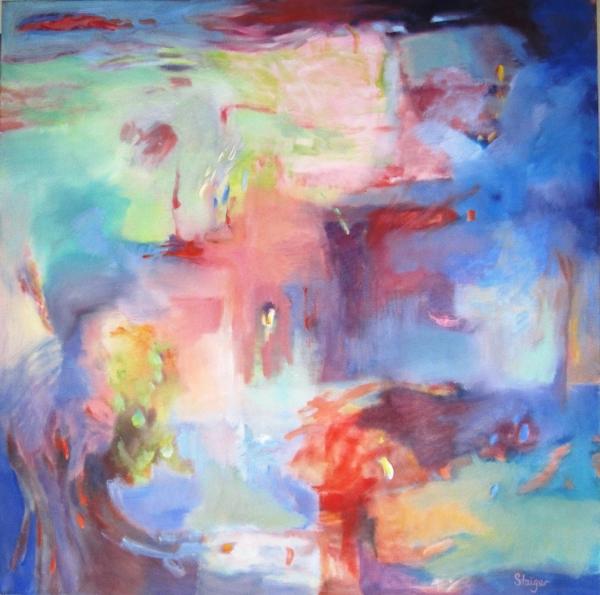 """""""Scherzo"""", 36 x 36, oil on canvas, $1800."""