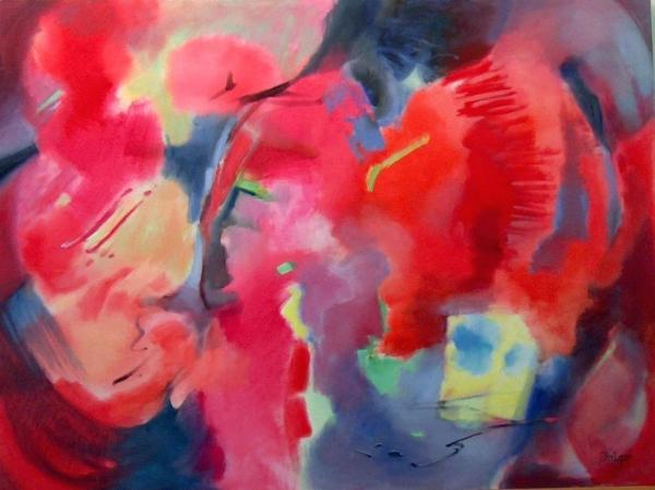 """Tango"", 36 x 48, oil on canvas, $2400."