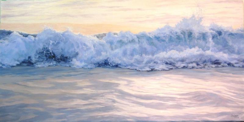 """Daybreak I"": Sea Dreams Series, 36 x 72, oil on linen (sold)."