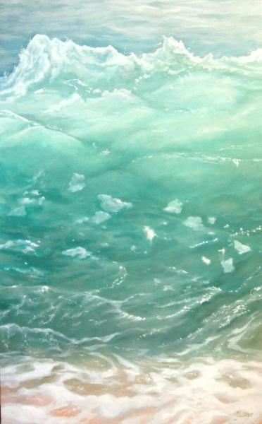 """Sea Dreams V"", 30 x 48, oil on linen, NFS"