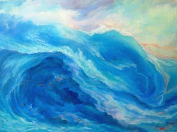 """Sea Dreams III"", 36 x48, oil on canvas, $2400."