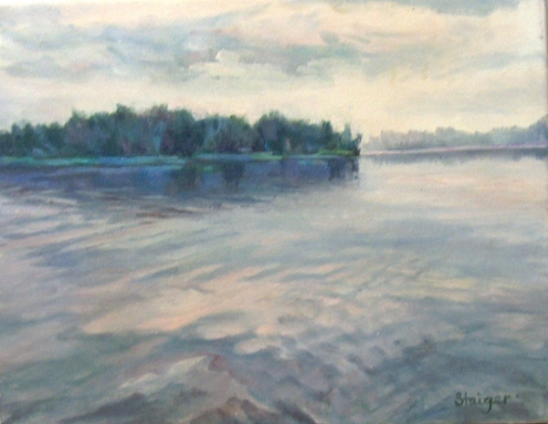 """Dawn on the Indian River"" (Illustration for The Painting Course You've Always Wanted)"