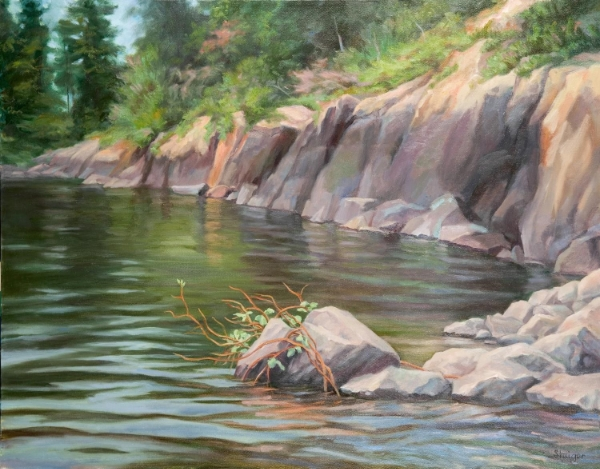 """Natural Bridge Pond"" (Illustration for The Painting Course You've Always Wanted)"