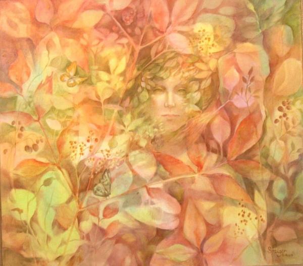 """""""Autumn"""" 36 x 40 (framed), oil on linen, NFS"""