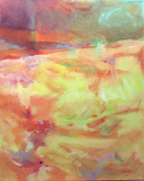 "Coastal III, oil on canvas, ""Summer Shore"", 24 x 30, $1200."