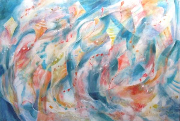 """Kite Winds II"", 40 x 60, (commission)"