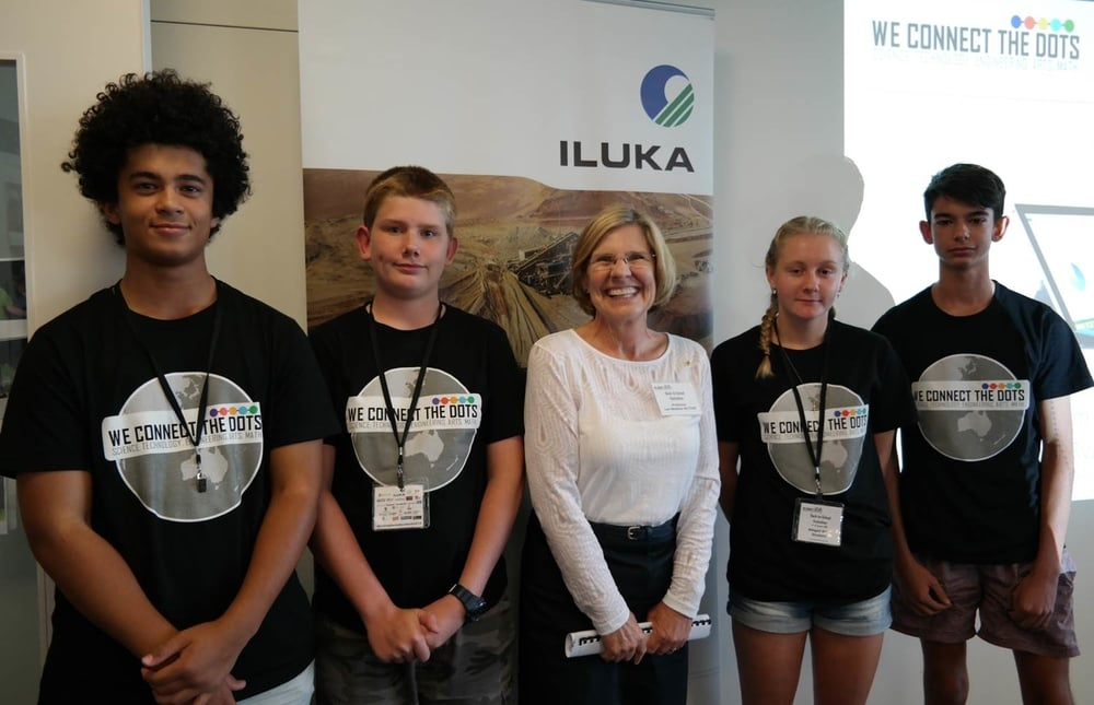 Winners 1st Prize - Hydrosphere Team with judging panel member Professor Lyn Beasley.jpg