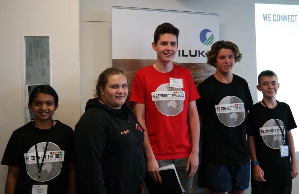 Winners 2nd prize - Ammunition Team with judging panel member Mark Shelton.jpg
