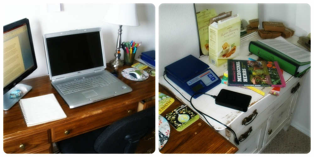 My workspace as I write my e-book.