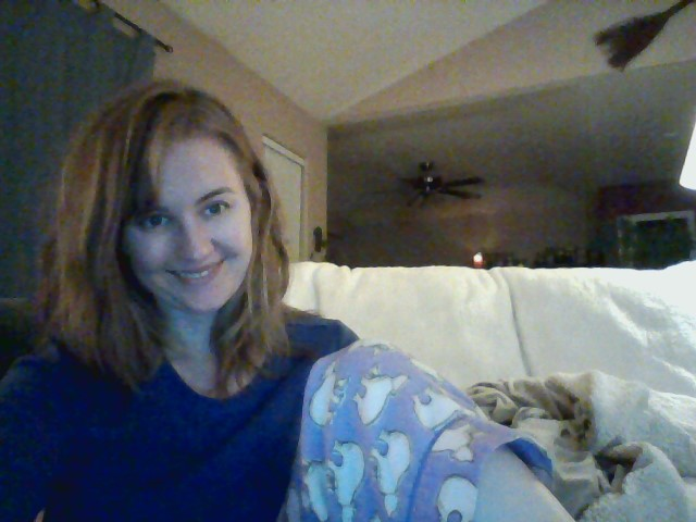 This is me in the midst of 24/7 editing. Yes, in my pajamas. February 2014